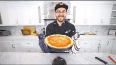 making and eating my first ever deep dish pizza